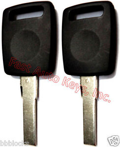 2 (PAIR) NEW Transponder Chipped Keys For Audi TT QUATRO S8 S4 A8 A6 A4 S6