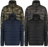 Mens Camo Camouflage Winter Jacket Puffer Lined Hooded Zipped Pouch New 2018