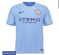 Manchester City Nike Home Replica Jersey - Blue