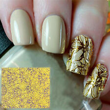 1PC 3D Fashion Embossed Stickers Blooming Flower Nail Art  Decals DIY Tips