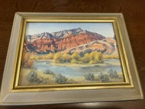 Vintage Oil Painting by Marie Dorothy Dolph Signed Goose Egg Mt