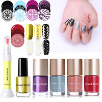 NICOLE DIARY Metallic Nail Stamping Polish Peel Off Latex Dry Fast Nail Varnish
