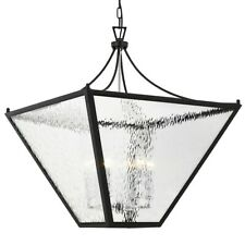 Crystorama Park Hill 6 Light Large Lantern, Black/Chrome - PAR-698-MK-CH