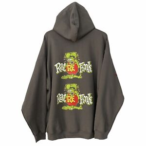 RARE Matco Tools RAT FINK APPROVED Black Hoodie Ed Roth Cartoon Adult Size 2XL