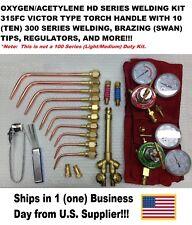 VICTOR TYPE HEAVY DUTY (315FC Type) Oxy/Acetylene Welding Torch Kit w/Regulators