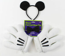Mickey Mouse White Gloves Ears Bow Tie Disney Fancy Dress Adults Kids Costume