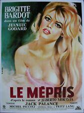 LE MEPRIS Affiche Cinéma ROULEE 53x40 Movie Poster Jean-Luc Godard BARDOT R2000