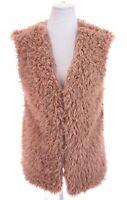 NWT Ellie & Kate 70s Faux Fur Lined Shaggy Dusty Pink Vest Cozy Womens Sz L XL
