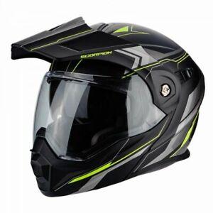 Scorpion Adx-1 Anima Matt Black & Yellow Helmet