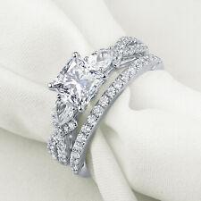 Engagement Ring Set For Women Sz 7 Newshe 925 Sterling Silver White Cz Wedding