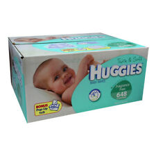 648 Huggies Thick Baby Wet Wipes Case Tub BULK Fragrance & Alcohol