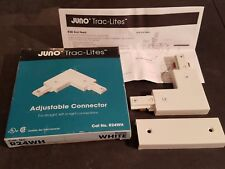 NEW IN BOX Juno Lighting Trac-Lites R24WH Adjustable Joiner/Connector, 20 Amp