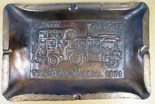 rare dinanderie, cendrier de garage, Thomson Burrell 1871, automobile, train....