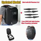 Backpack Bag Case Black For Drone quadcopter DJI Phantom 2 3+ 4x9450 Propellers