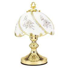 "14"" 60W Traditionnel Pastrol Laiton Poli Table De Chevet Touche Lampe NEUF"