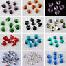17Colors 14mm DIY Heart Crystal Glass Charms Faceted Loose Spacer Beads Pendants