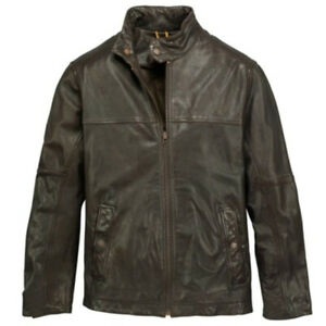 NWT TIMBERLAND  Men's Mount Major Leather Bomber Jacket 5449J $498 Cocoa Small