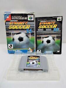 N64 -- J League Dynamite Soccer 64 -- Boxed. Nintendo 64, JAPAN GAME. 18513