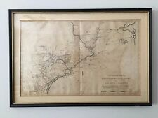 """Antique Military Map of EAST NJ to MARYLAND from Marshall's """"Washington's Life"""""""