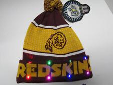 Washington Redskins NAME NFL LED Light Up Hat Winter Pom Beanie Knit Cap
