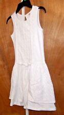 GIRL`S SIZE (  6-7)* GAP KIDS  WHITE COTTON  DRESS NWT