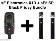 sE Electronics sE5 SP Stereo Pair + X1D X-1D Drum Microphone Mic Bundle Pack