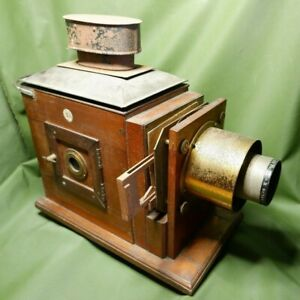 Antique Mahogany Magic Lantern Projector J Lizars Edinburgh