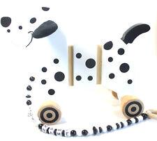 Ziehtier Dalmatiner  mit Namen Nachziehtier Hund ab 12 m Holzspielzeug
