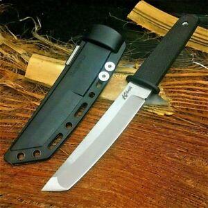 Tanto Knife Mini Katana Fixed Blade Hunting Wild Tactical Combat Military Sheath