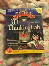 Bigger Brain Bytes 3D Thinking Lab Ibm Pc/Mac-Brand New & Factory Sealed! *Htf*