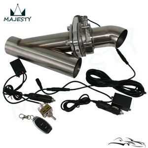 "2.5"" Exhaust Catback Downpipe Cutout E-Cut Valve Electric +Toggle Switch Control"