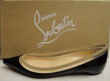Christian Louboutin Paulina Black/Beige Patent Leather PVC Pointed Flats 40