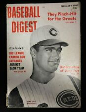 """Baseball Digest February 1962 Paperback Book """"Reformation Of Joey Jay"""""""