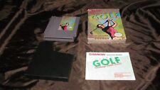 Vintage 1988 Nintendo Golf Challenge Peb Complete Game In Original Box W/ Instr.