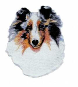 Machine Embroidered Dachshund Applique  Sizes    5.3W X 6.0H  or   2.7W X 3.1H