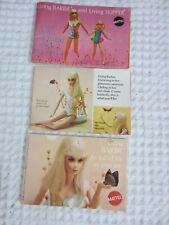 vintage Living Barbie and Living Barbie and Skipper 3 catalogs 1969 1970