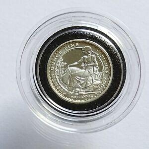 2005 BRITANNIA 20 PENCE ( 1/10th OF AN OUNCE ) in original RM capsule as shown .