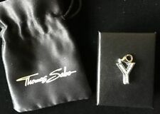 NEW GENUINE THOMAS SABO STERLING SILVER 925 ZIRCONIA SET LETTER INITIAL Y CHARM