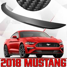 NEW Matte Real Carbon Fiber Factory Style Rear Spoiler Wing For 18 Ford Mustang