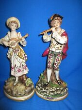 Pair of Antique Continental Porcelain Figurines Marked