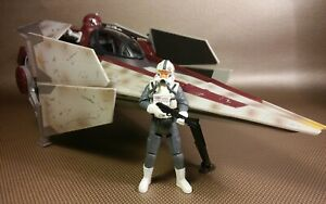 Star Wars V Wing Starfighter 30TH Hasbro Republic Clone Trooper pilot ship set