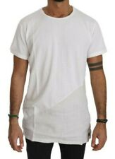 KM ZERO T-shirt Cotton White Roundneck Short Sleeve Men Top IT48/US38/M