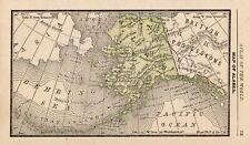 New Listing1888 Antique Alaska Map Rare Miniature Size Map of Alaska State Map 8396
