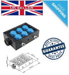 Power Distribution Box 6 Channel, European 2 Pin Schuko Socket