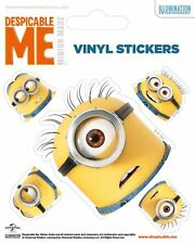 DESPICABLE ME (HEADS) - VINYL STICKERS 5 PACK BY PYRAMID PS7203