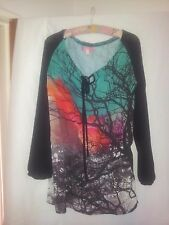 Smash Barcelona ladies multi coloured top US M hippie boho casual