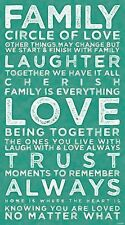 A1 FAMILY HOME IS WHERE THE HEART IS LOVE INSPIRATIONAL ARTWORK PRINT POSTER