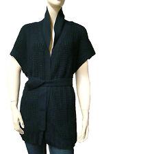 CHIPIE Gilet kimono noir femme laine merinos