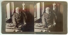 *FATHER OF MODERN DRAMA: GREAT PLAYWRIGHT HENRIK IBSEN 1899 STEREOVIIEW PHOTO*