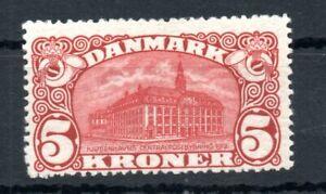DENMARK , 1912 , scarce 5 KRONER POSTHOUSE , MH !